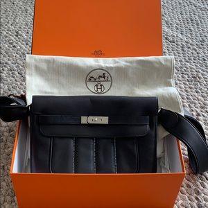 Authentic Hermès crossbody black bag